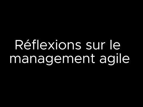 Réflexions sur le management agile