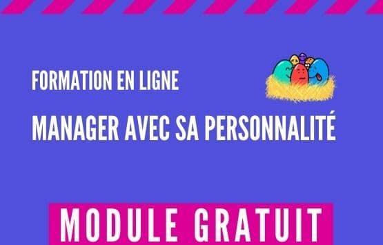 Module Gratuit Formation en ligne Manager avec sa personnalité