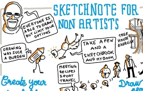 Sketchnote for non artists Mike Rohde