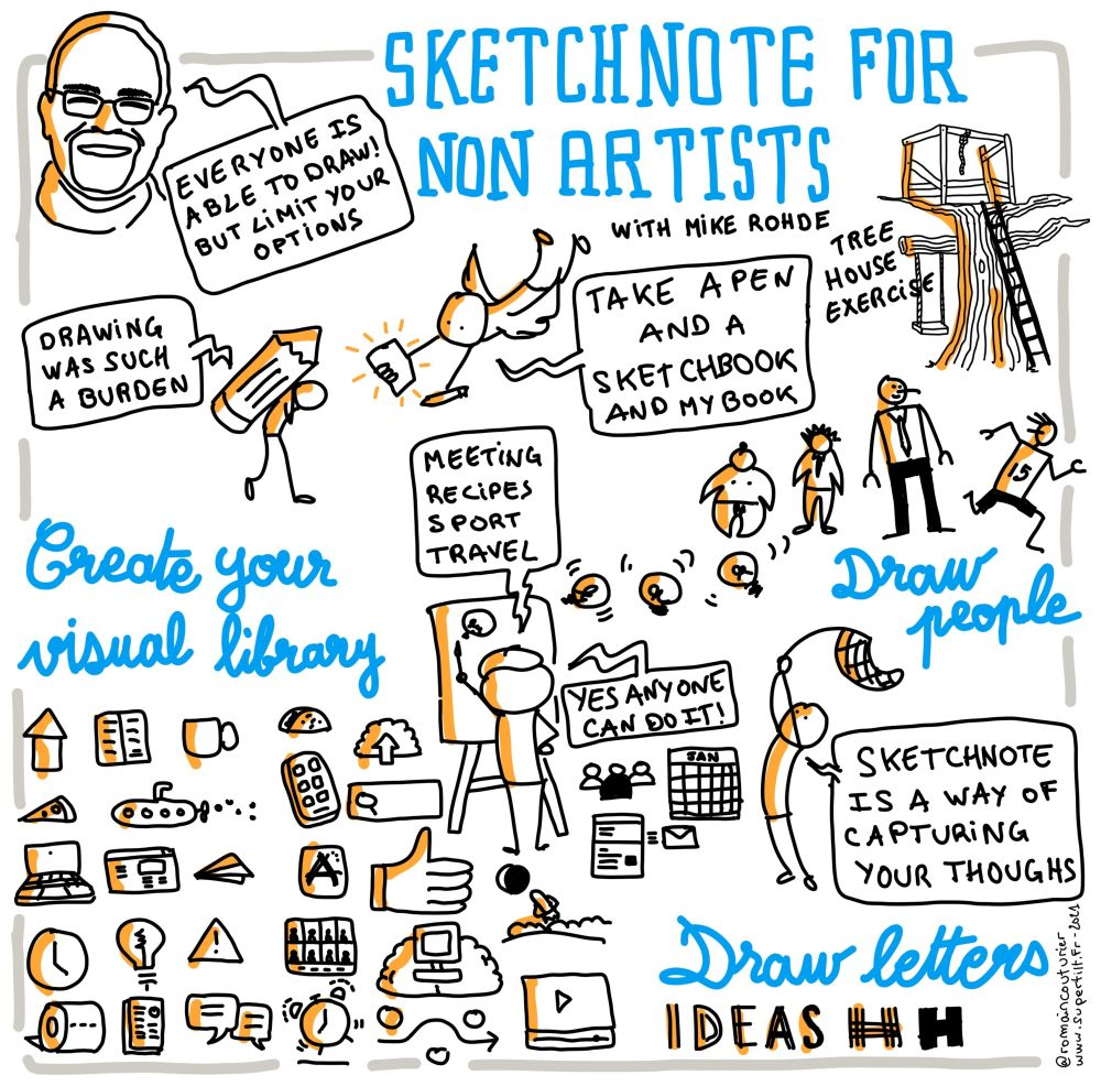 Sketchnote for non artists