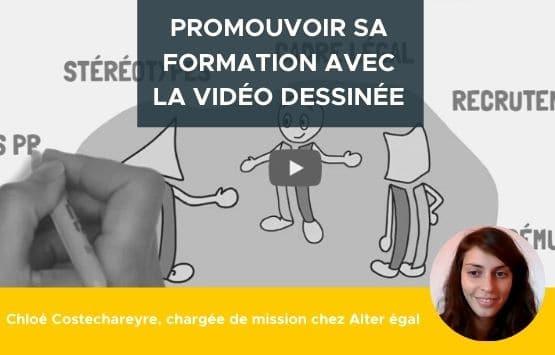 Promouvoir sa formation avec la vidéo dessinée