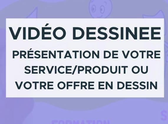video dessinee présentation de votre service en dessin