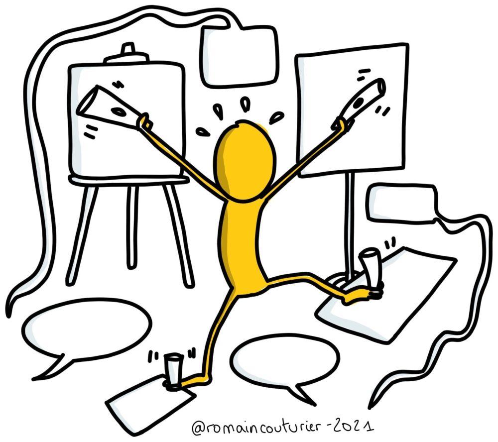 Erreur #1 : Le facilitateur graphique va de groupe en groupe
